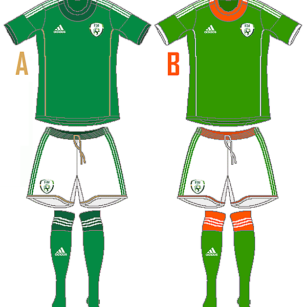 Ireland Adidas Home (Campeon 14 Template)